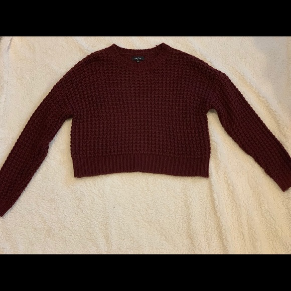 Pacsun Maroon Knit Sweater
